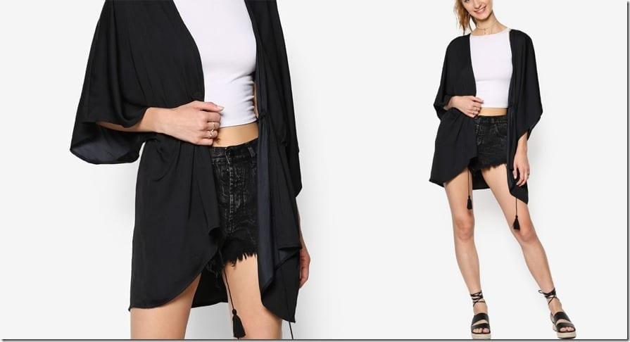 drape-elasticated-waist-tassel-kimono