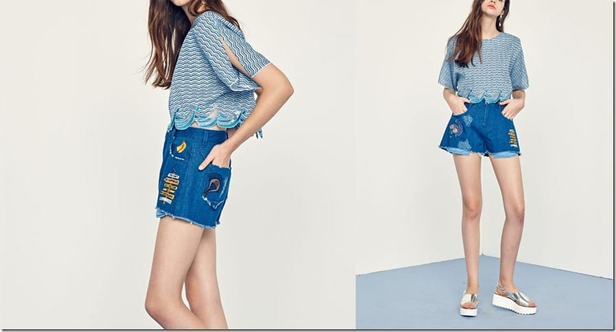 embroidered-patch-denim-shorts