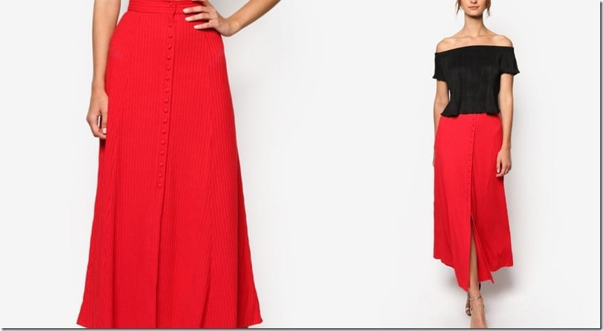 front-button-red-maxi-skirt