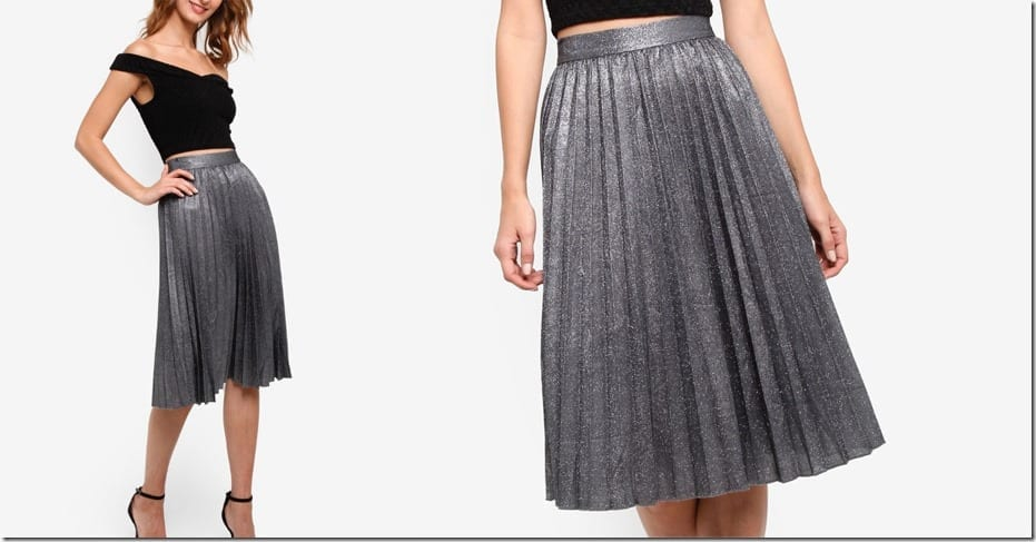 glittery-grey-pleated-midi-skirt
