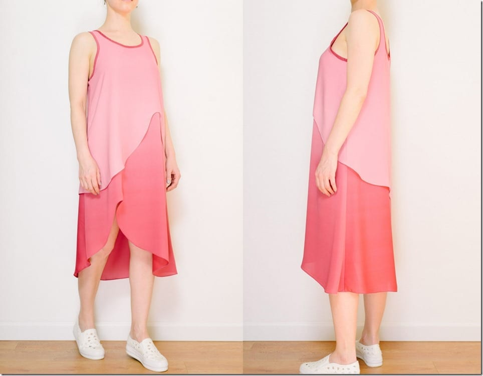 gradient-pink-layered-sleeveless-midi-dress