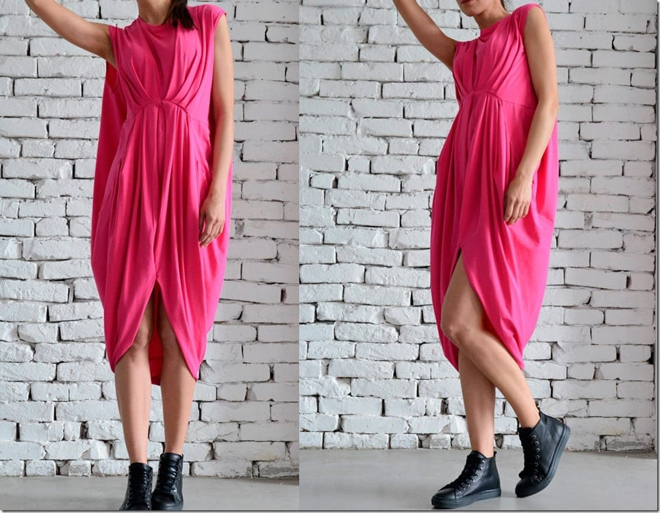 loose-asymmetrical-pink-midi-dress