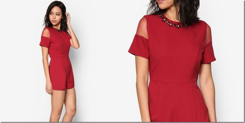 mesh-red-embellished-romper