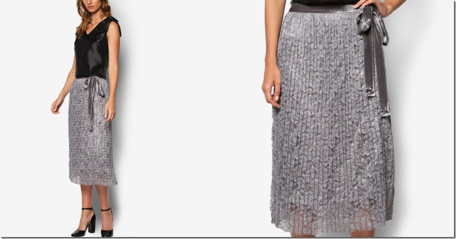 midi-grey-lace-pleated-skirt