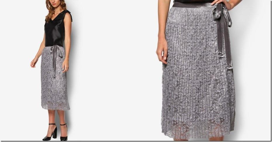 midi-grey-lace-pleated-skirt
