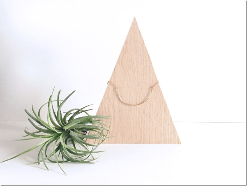 minimal-wood-triangle-necklace-display
