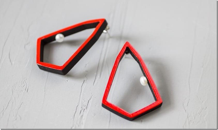 modern-red-geometric-statement-earrings