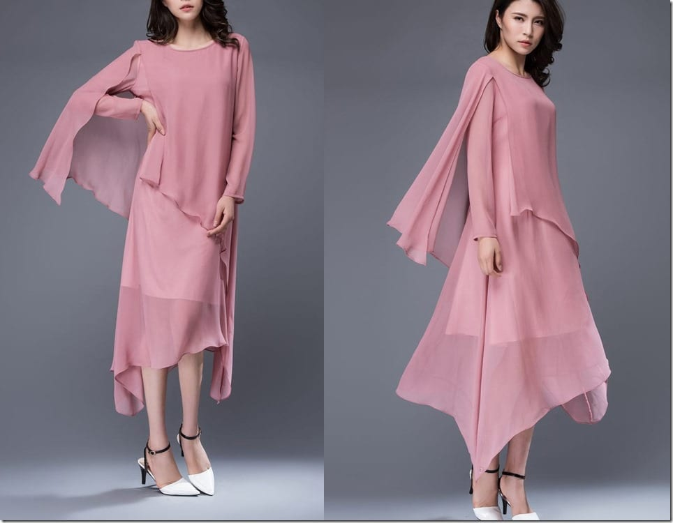 pink-floaty-layered-asymmetric-midi-dress