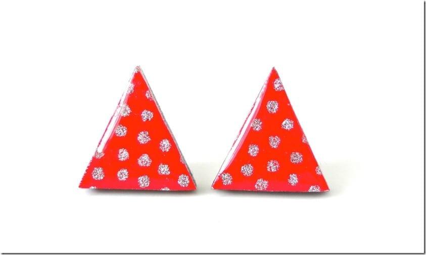 polka-dot-red-triangle-stud-earrings