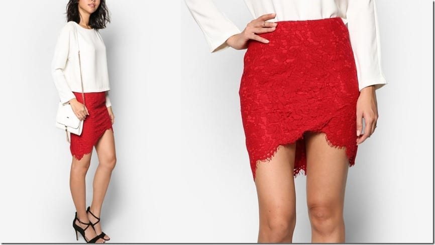 red-asymmetrical-lace-skirt