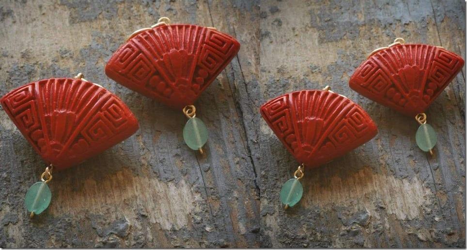 red-fan-cinnabar-earrings