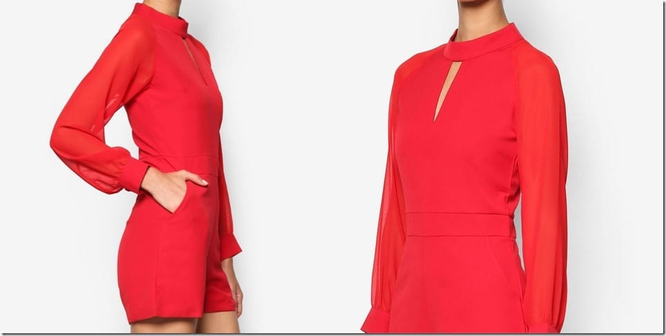 red-long-sleeve-romper