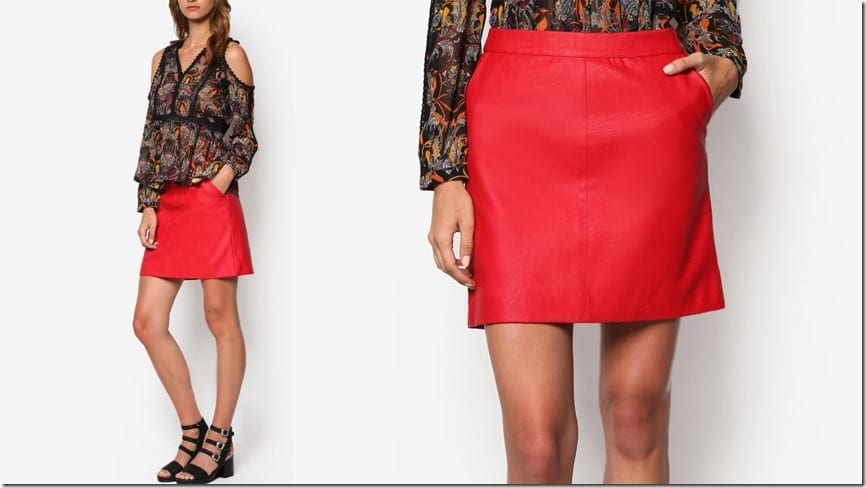 red-short-pencil-pu-skirt