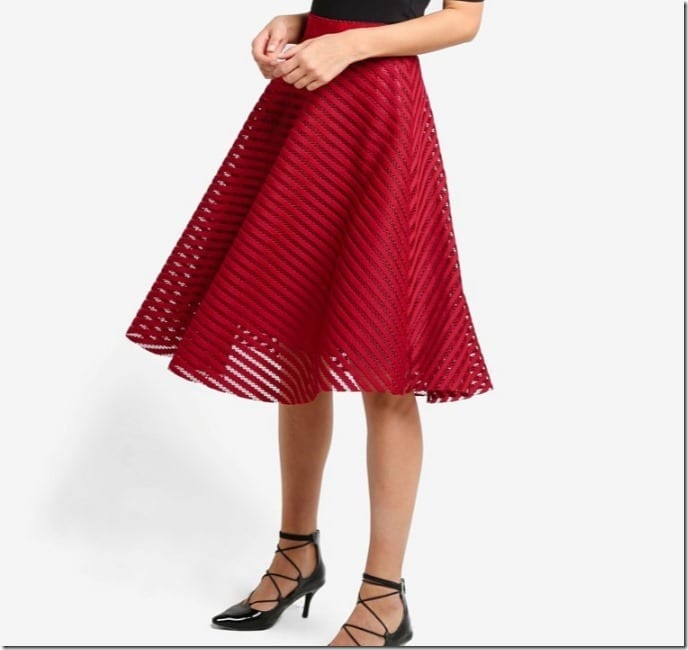 CNY 2017 Red Skirt Style Ideas