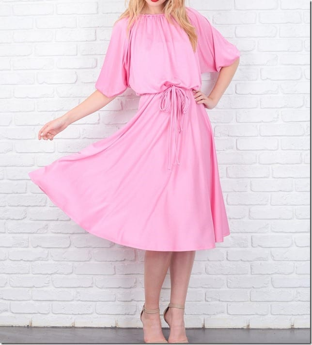 7 Romantic Pink Midi Dress Styles For Valentine's Day