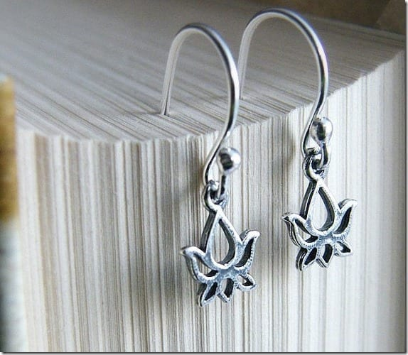 simple-silver-lotus-flower-earrings
