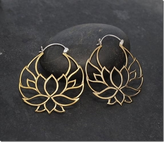 statement-lotus-hoop-earrings