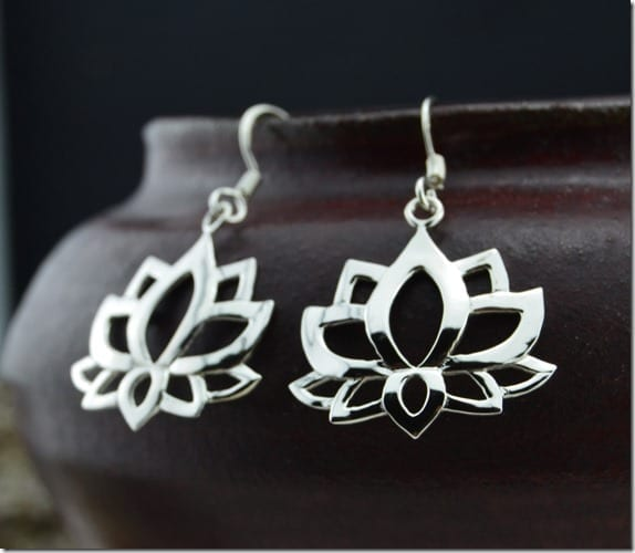 stunning-sterling-silver-lotus-earrings