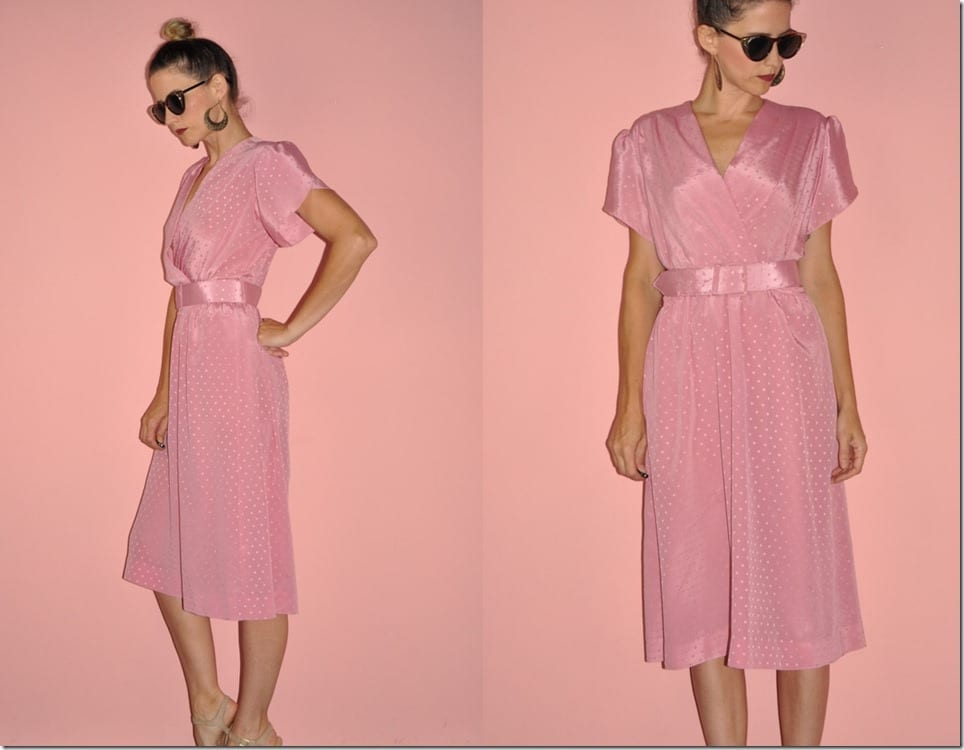 vintage-80s-polka-dot-pink-midi-dress