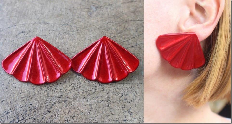 vintage-large-glossy-red-fan-earrings