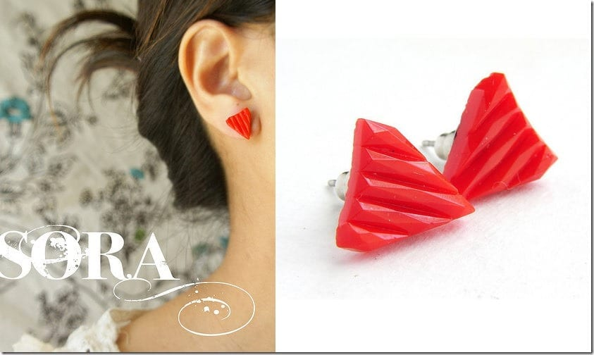 vintage-mod-red-triangle-earrings