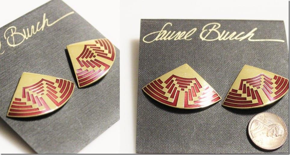vintage-red-gold-fan-earrings