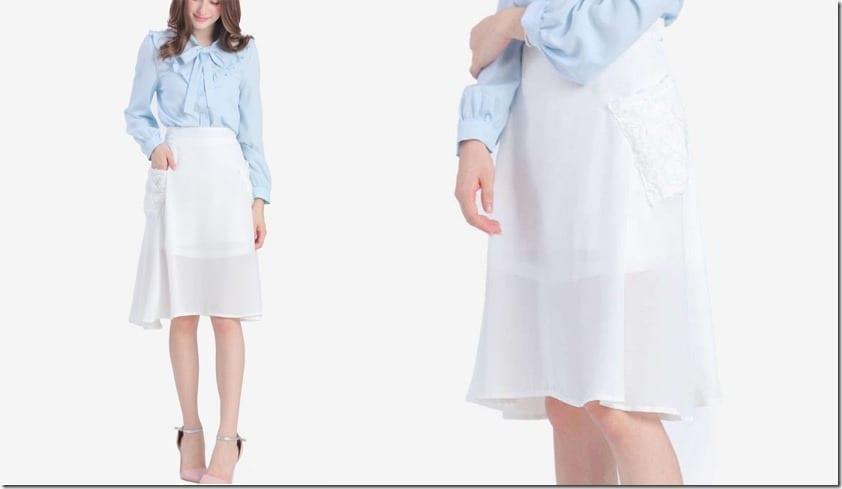 white-floral-pocket-midi-skirt