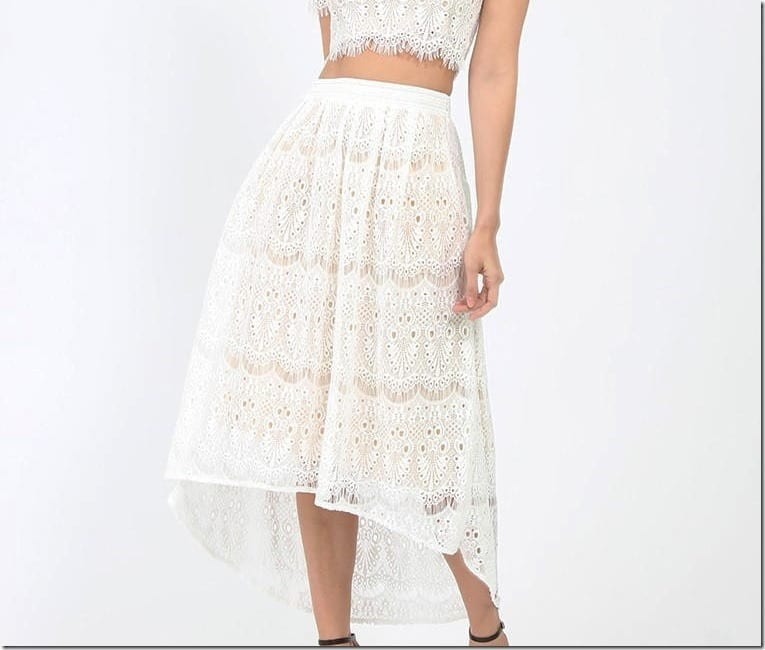 7 White Midi Skirt Styles To Party In This Chinese New Year 2017