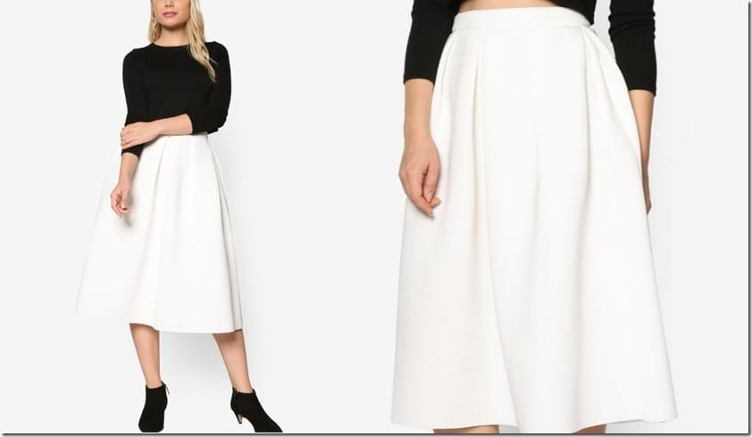 white-pleated-midi-skirt