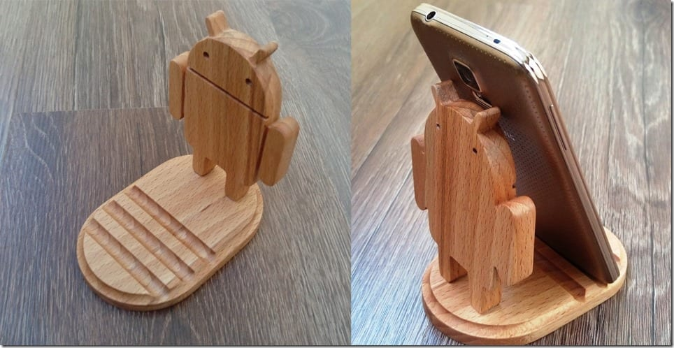 wooden-android-robot-phone-holder