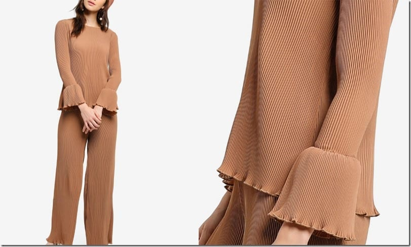 brown-pleated-top-statement-sleeves