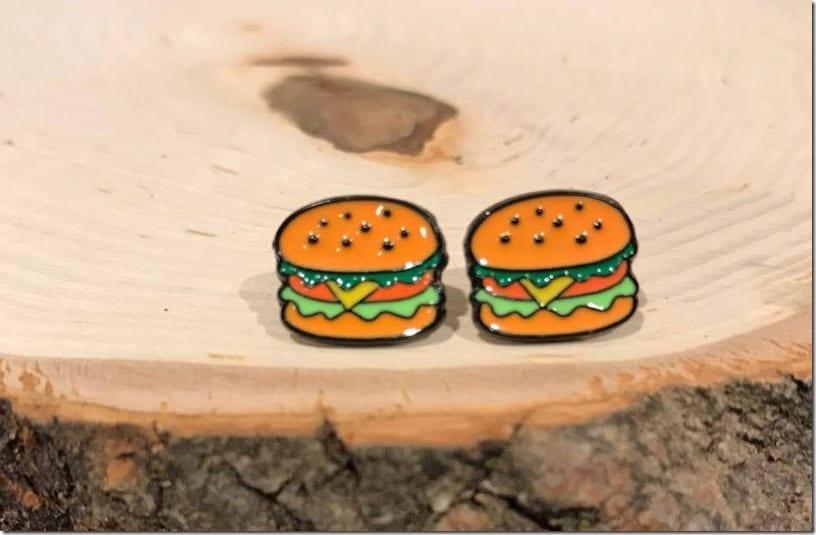burger-cartoon-stud-earrings