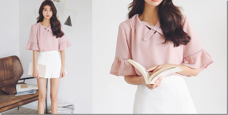elegant-pink-ruffle-blouse