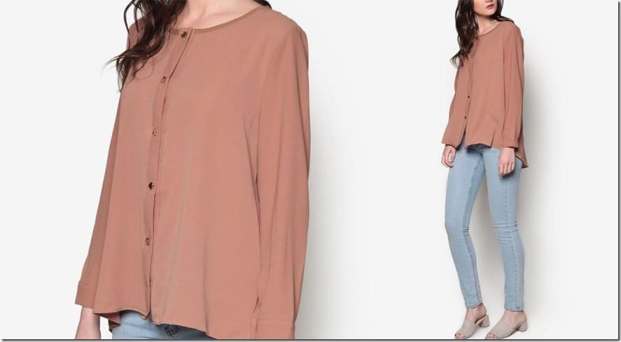 minimal-brown-button-down-blouse