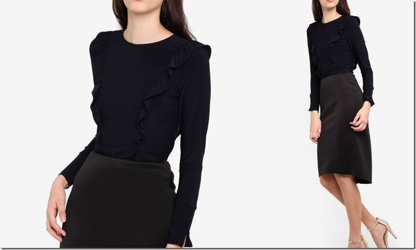 navy-frilly-long-sleeve-top