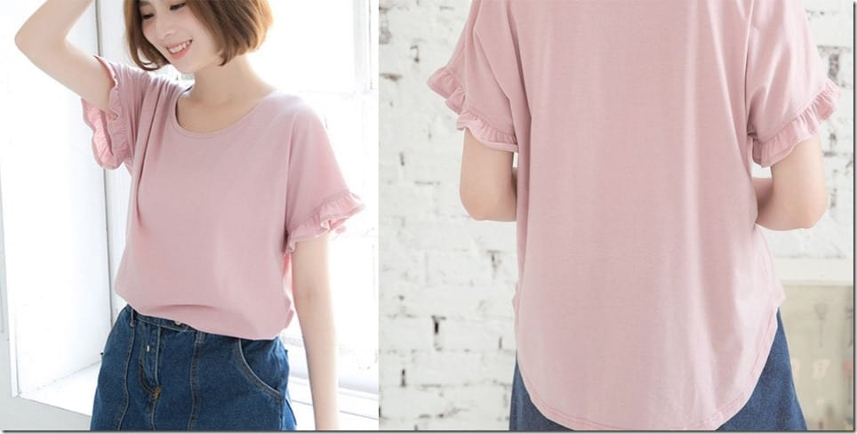 pink-frilly-sleeve-cotton-tee