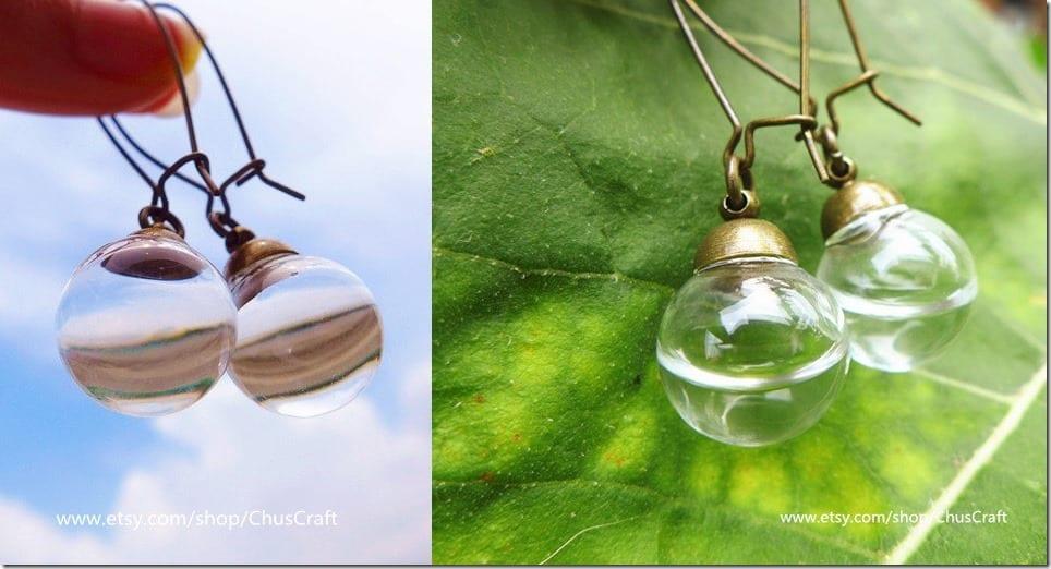 real-water-glass-bubble-earrings