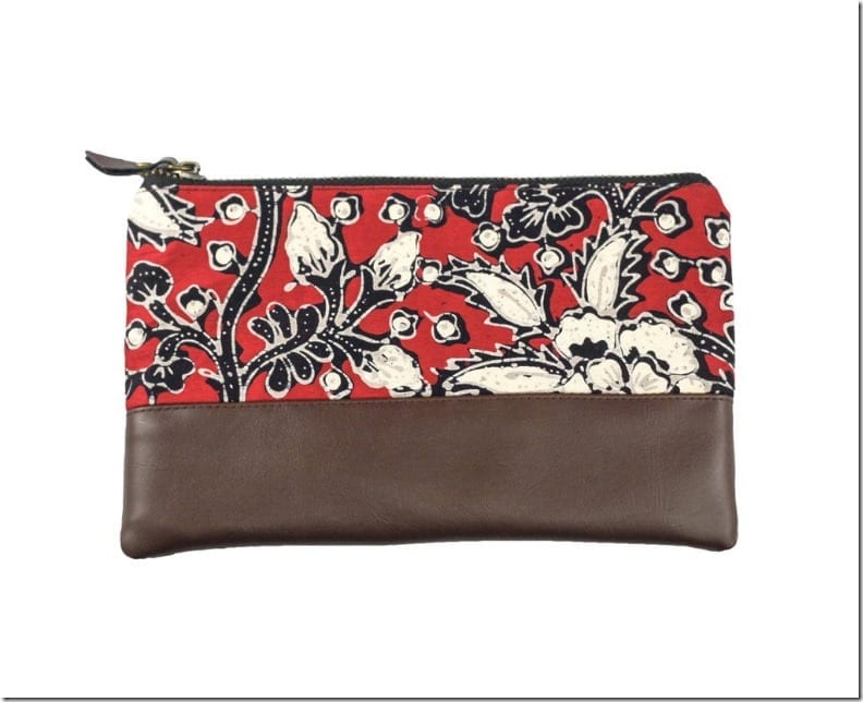 red-festival-batik-leather-pouch