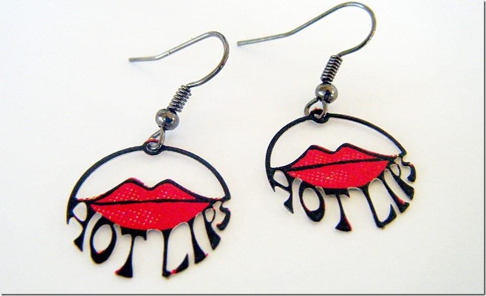 retro-hot-red-lip-dangle-earrings