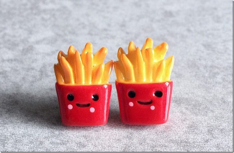 smiling-french-fries-stud-earrings