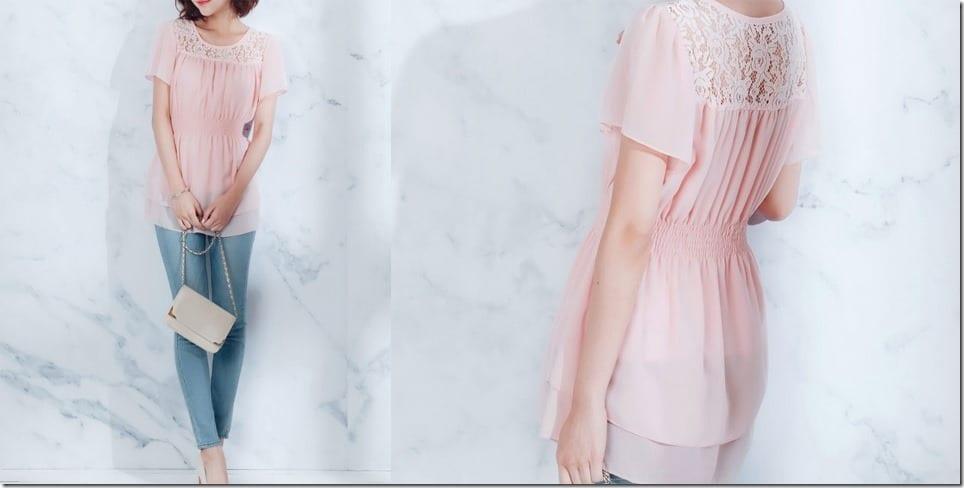 smock-waist-pink-chiffon-top