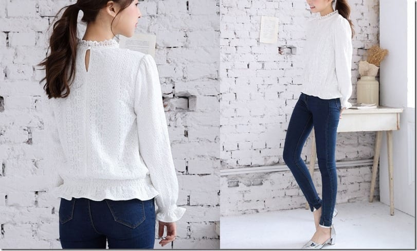 white-high-neck-lace-collared-top