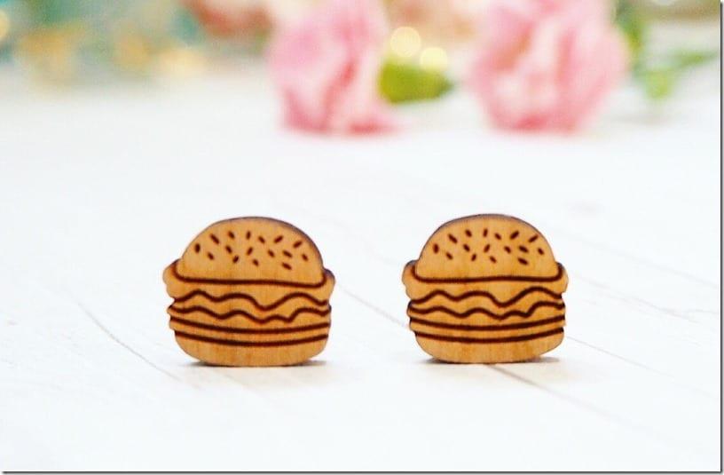 wooden-burger-stud-earrings