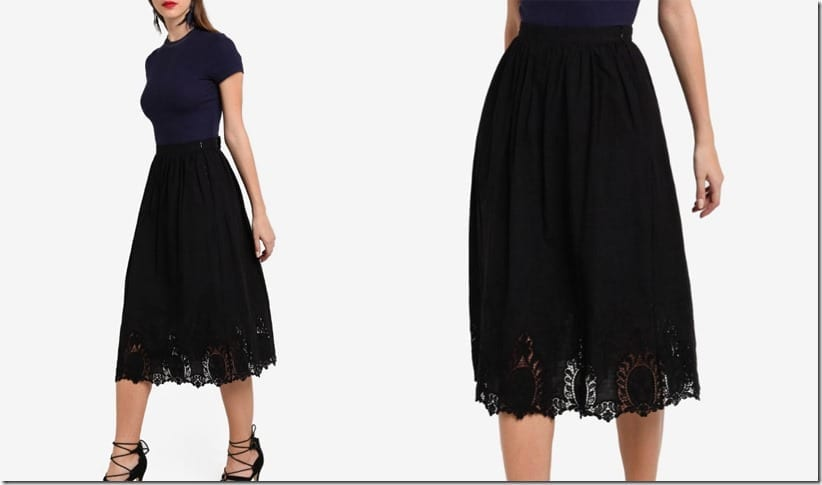 black-floral-lace-midi-skirt