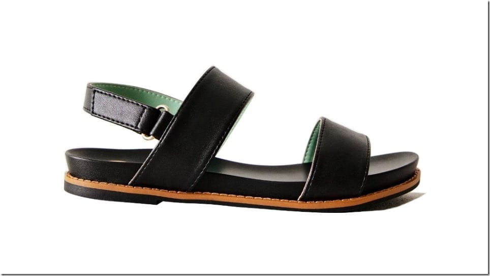 black-two-band-strap-sling-sandals