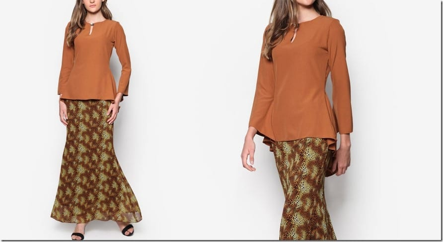 brown-midi-peplum-kurung
