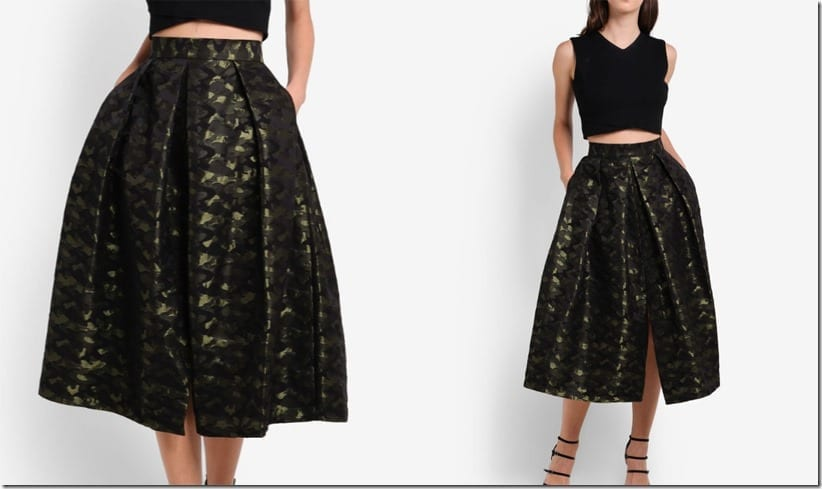 camo-print-midi-pleated-skirt