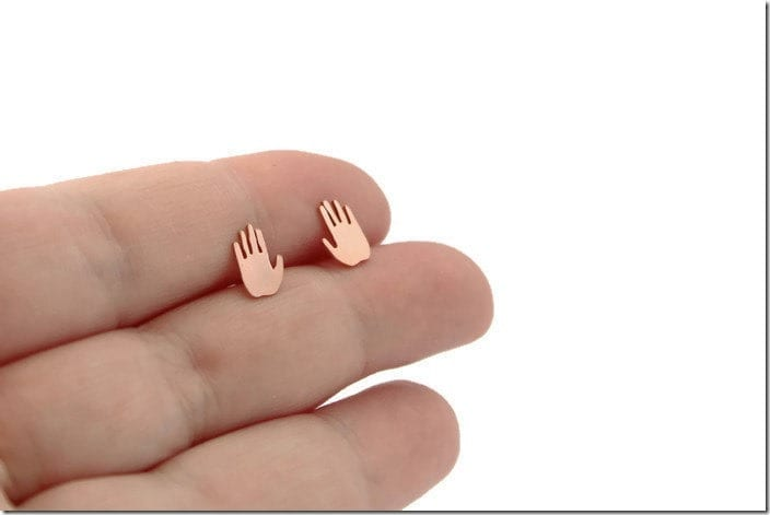 copper-hand-stud-earrings