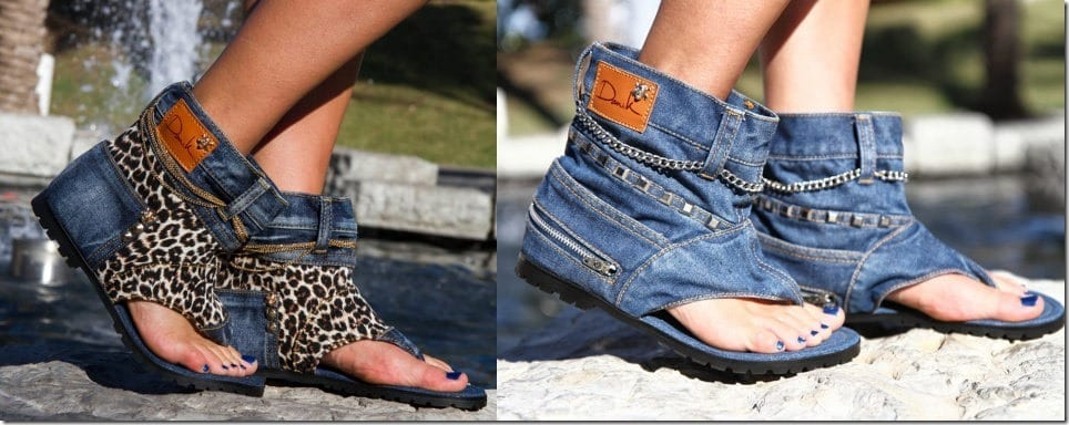 Slip Your Feet Into Cozy Denim Statement Sandals And Free Your Toes