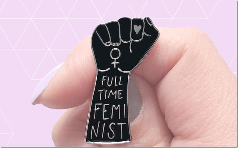 full-time-feminist-enamel-pin